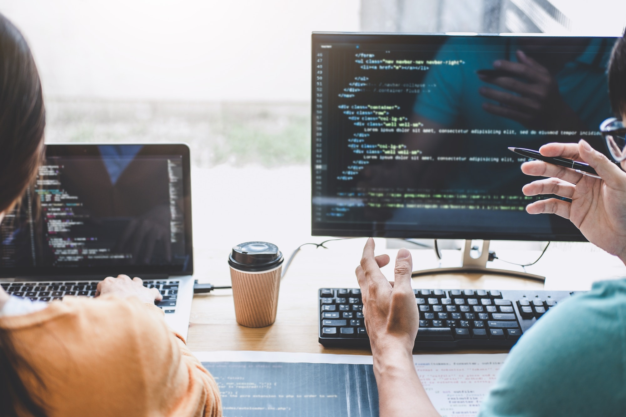 Writing codes and typing data code technology